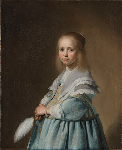 RIJKS: Johannes Cornelisz. Verspronck: Portrait of a Girl Dressed in Blue 1641