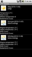 Screenshot of Sveriges väder