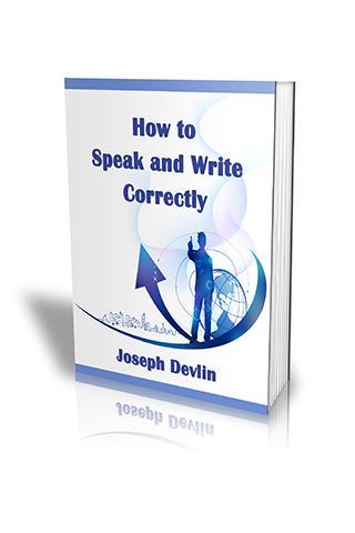 Speak and Write Correctly