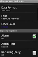 Screenshot of Lightning Bug - Sleep Clock