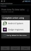 Screenshot of Ringtone Scheduler Pro