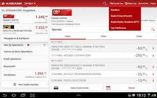 Screenshot of Akbank Direkt Tablet