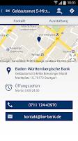 Screenshot of BW-Bank Filialfinder