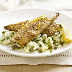 Mackerel With Warm Cauliflower & Caper Salad