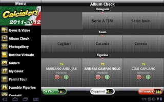 Screenshot of iCalciatori HD