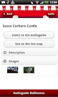 Screenshot of Bellinzona Guide (English)
