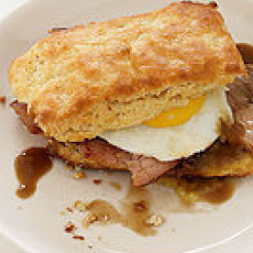 Ham Biscuits with Redeye Cream Gravy