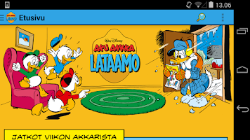 Screenshot of Aku Ankka Lataamo