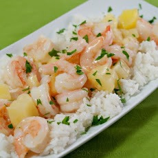 Skillet Pineapple Shrimp