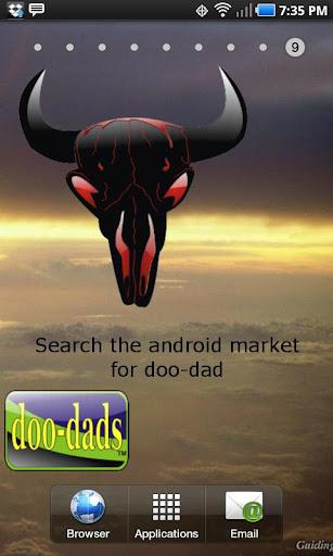 Bull Skull black doo-dad