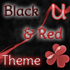 GO Launcher Theme Black & Red