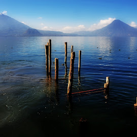 LAKE & VOLCANO by George Arnon - Landscapes Waterscapes ( lakescape, lakes, guatemala, travel, atitlan,  )