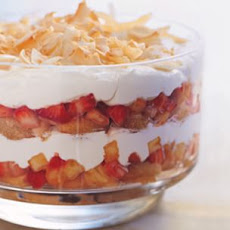 White Chocolate Trifle with Strawberries and Pineapple