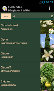 HerbIndex - herbal drugs - screenshot