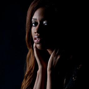 Portrait of Ashlei by Drew Tarter - People Portraits of Women ( studio, black background, one-light portrait, portrait, women )