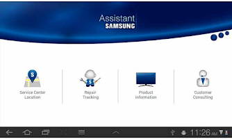 Screenshot of Assistant Samsung