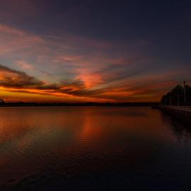 Summer Fireworks by Linda Karlin - Landscapes Sunsets & Sunrises ( sunset, summer, landscape )