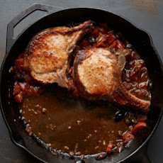 Pork Chops Puttanesca