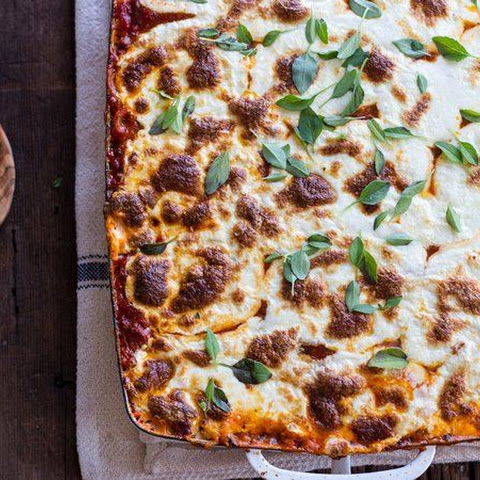 Baked Whole Wheat Spaghetti Casserole With Turkey Italian Sausage And ...