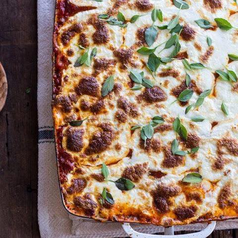 Baked Whole Wheat Spaghetti Casserole With Turkey Italian Sausage And ...