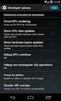 Screenshot of Developer Options
