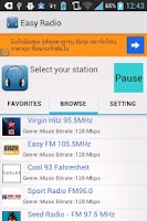 Screenshot of Easy Radio