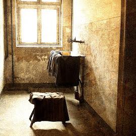 The Washroom of Death by Bjørn Borge-Lunde - Digital Art Things ( interior, wash basin, bathroom, sun, room )