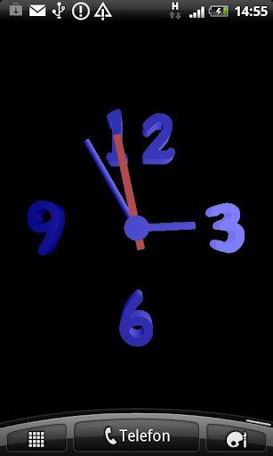 3D青いプラスチック時計