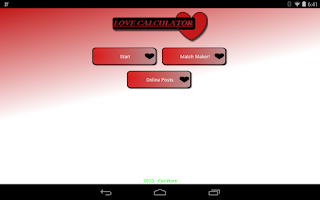 Screenshot of Match Maker Love Calculator