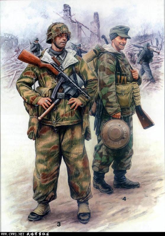 看装束仿佛是在1945年初的奥德河畔,左边的老兄拿着 ...