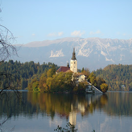 Lake Bled by Michelle Rasberry - Novices Only Landscapes
