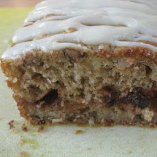 German Chocolate Banana Bread with Cream Cheese Glaze