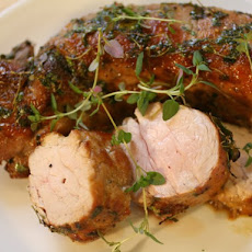 The Secret Ingredient (Honey): Honey-Thyme Roasted Pork Loin