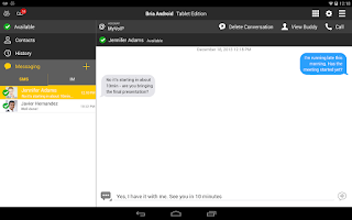 Screenshot of Bria play Tablet Edition