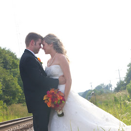 In Love by Brooke Green - Wedding Bride & Groom ( natural light, wedding photography, couple portrait, weddings, happy, outdoor )