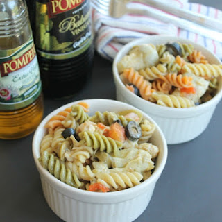 Balsamic Chicken Pasta Salad #DressingItUp!
