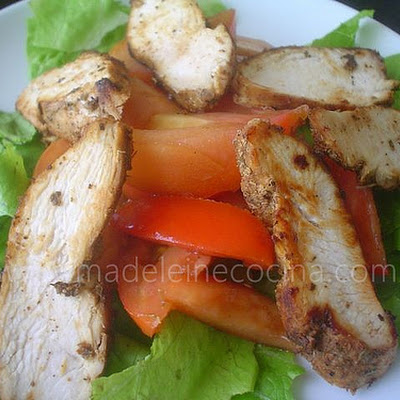 Paprika Chicken with Salad