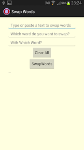 SwapWord Simple Text Editor - screenshot
