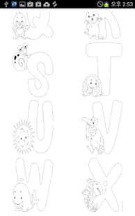 Alphabet Coloring Pages - screenshot