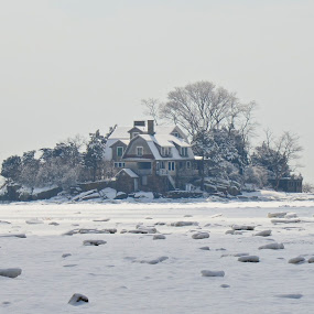 Island Home by Carl Testo - Buildings & Architecture Homes ( winter, ocean, house, branford, island )