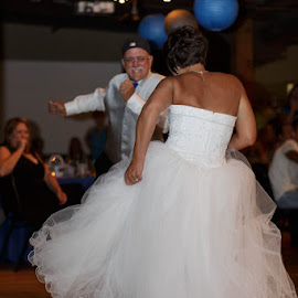 Bride and Dad by Mike Herod - Wedding Reception ( reception, bride, dance, father of the bride, father )