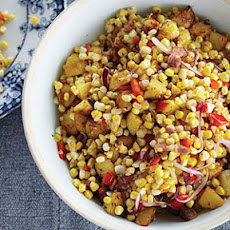 Warm Corn Chowder Salad with Bacon and Cider Vinegar