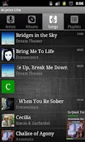 Screenshot of 4Lyrics Lite