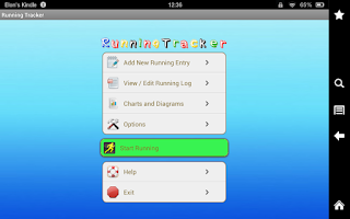 Screenshot of Running Tracker