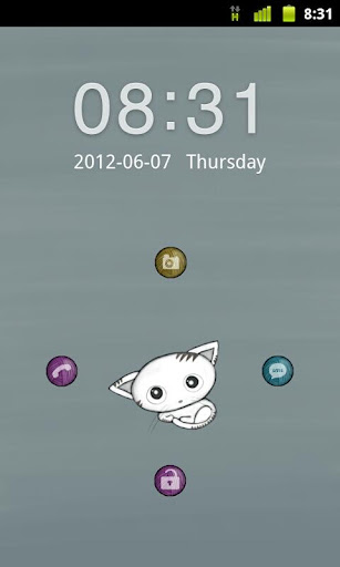 Kitten Theme GO Locker