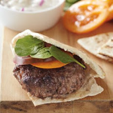 Lamb Burgers with Red Onion-Cumin Sauce
