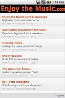 Screenshot of Enjoy the Music.com Audiophile