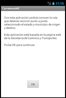 Screenshot of Carreteras México