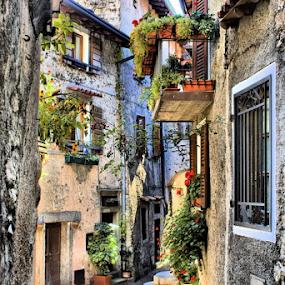 Piève by Pieter Arnolli - City,  Street & Park  Street Scenes ( countryside, lago di garda, lombardije, europe, street, travel, italy )
