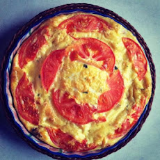 Crustless Tomato and Basil Quiche (Low Carb)